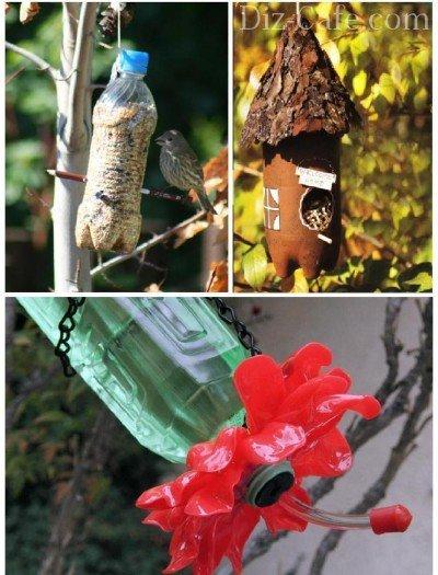 Кормушки для птиц из пластиковых бутылок