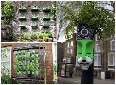 Горшки для выращивания растений из пластиковых бутылок