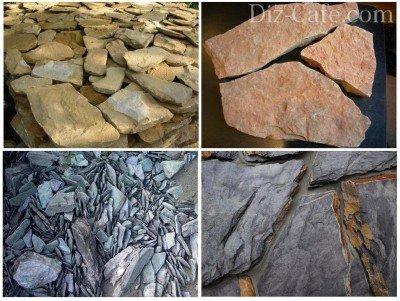 Слоистый камень для альпийской горки чешская скалка
