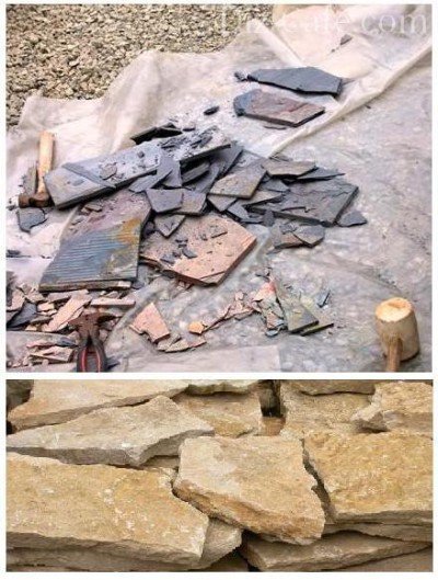 Каменные плиты для создания альпинария чешская скалка