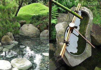 Пруд в японском стиле