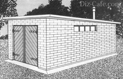 Простой гараж на даче своими руками
