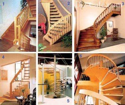 Варианты лестниц для дачи