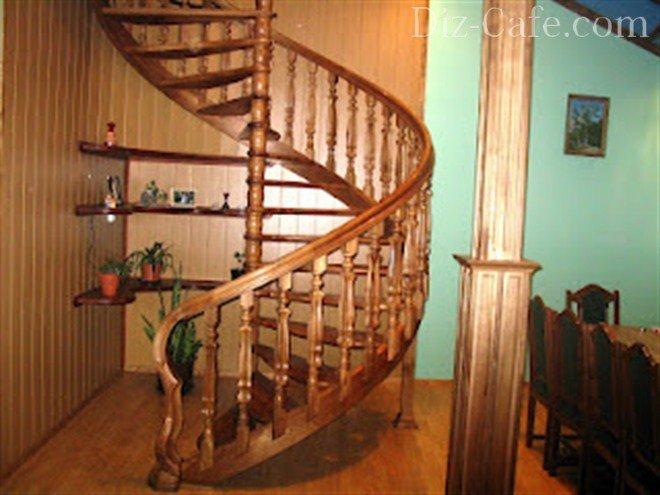 Лестница своими руками из бруса