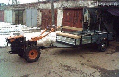 Прицеп для перевозки собранного урожая