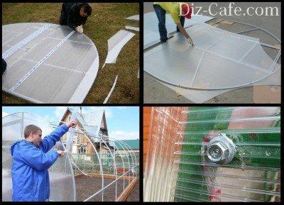 Обшивка стен поликарбонатом