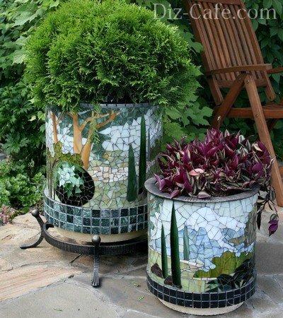 Подвесные кашпо для сада своими руками