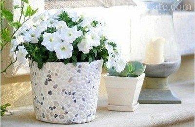 Варианты декорирования вазона