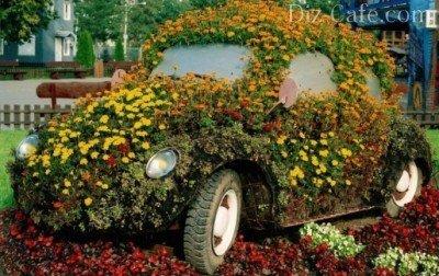 Цветочный автомобиль