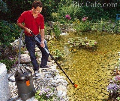 Ручная уборка пруда