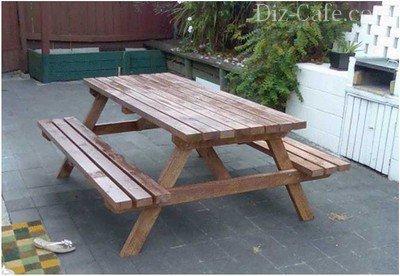 Нанесение защитного и красящего состава на детали деревянного стола