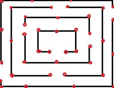 Схема лабиринта для детской