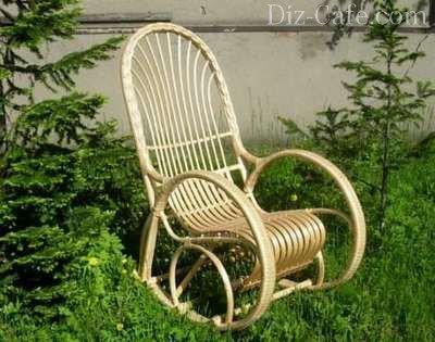 Кресло из ивовой лозы