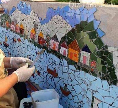Садовая мозаика своими руками. Для дачников. ру 58