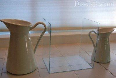 Склеивание стеклянных заготовок