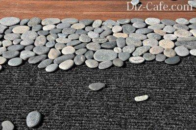 Расположение камней на коврике