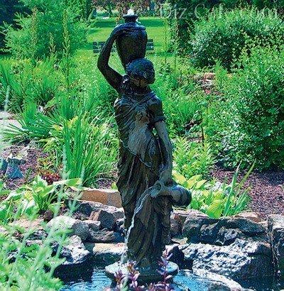 Миниатюрный скульптурный фонтан