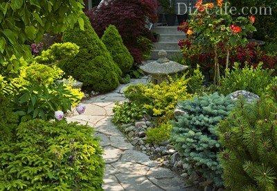 Садовая дорожка со ступеньками
