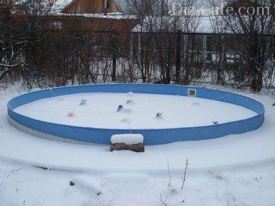 Использование компенсаторов при консервации бассейна на зиму