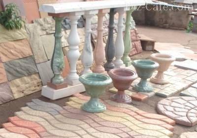Изящные балясины из бетона
