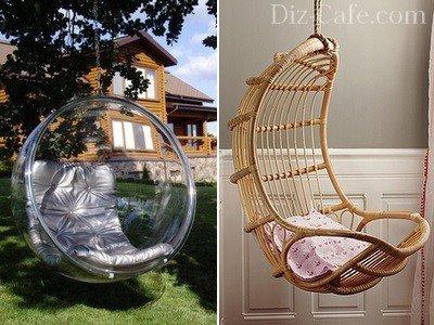 Плетеные подвесные кресла своими руками из лозы