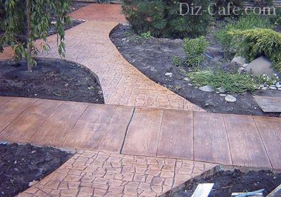 Красивые садовые дорожки из бетона