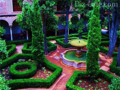 Фонтан – центральная фигура сада