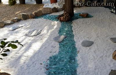 Лазурные дорожки на песке