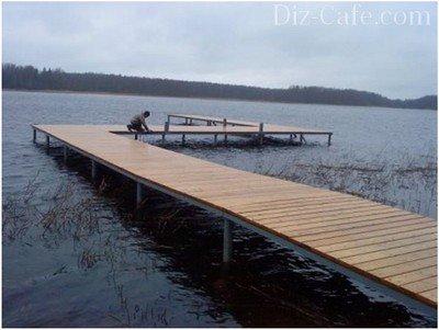 Как сделать мостки на реке фото 542