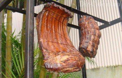 Хорошо прокопченное мясо