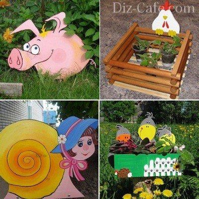 Варианты садовых украшений из фанеры