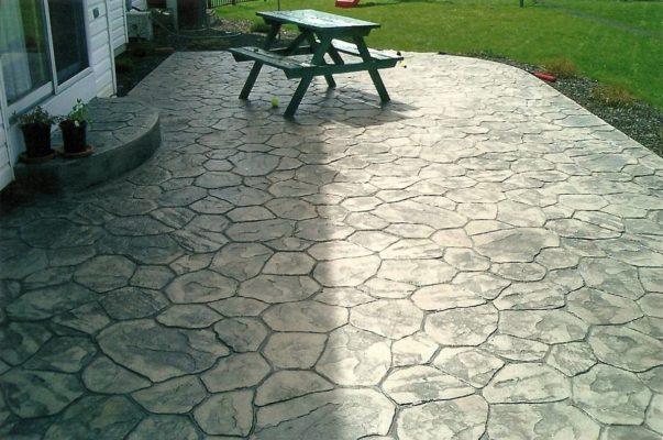 Декоративный бетон в ландшафтном дизайне:
