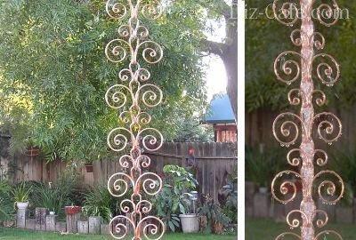 Дождевая цепь из кованых элементов