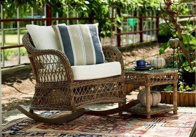 Плетеная мебель в оформлении интерьера