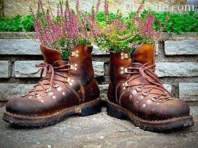 Старые ботинки для цветов