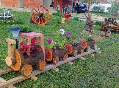 Садовый декор своими руками, интересные идеи для сада
