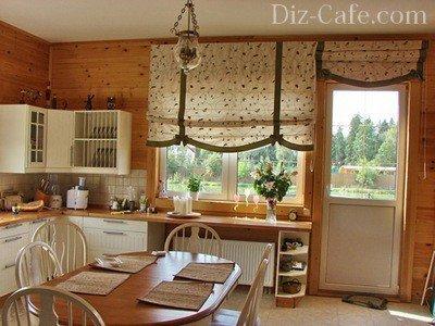 сшить деревенские шторы
