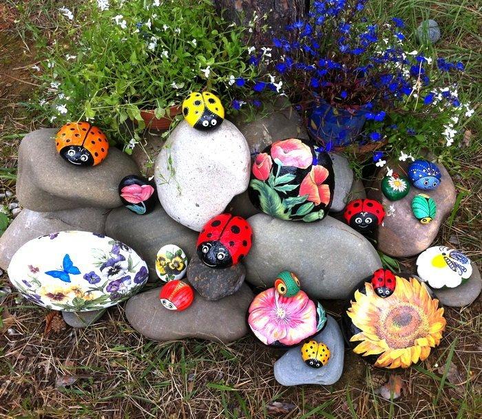 Поделки из камня в огород