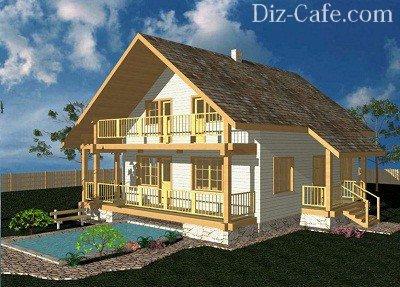 Проект дома с жилой мансардой
