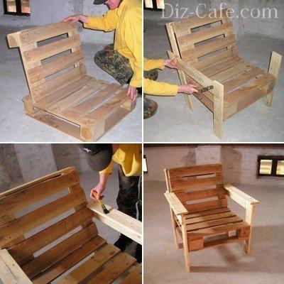 Процесс изготовления садового кресла