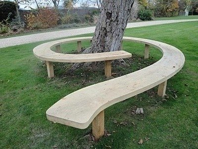 Садовая скамейка из лиственницы