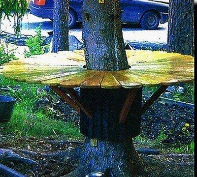 Круговой стол в собранном виде