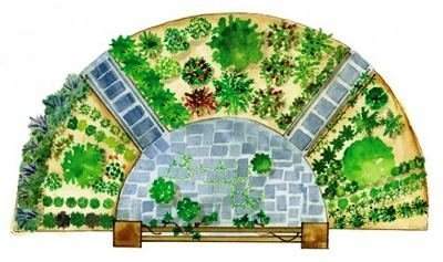 Сад в форме полумесяца
