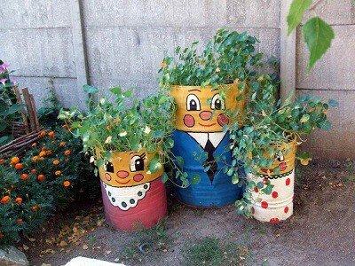 Украшения для сада и дачи из старых вещей: оригинальные идеи по декору