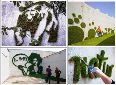 Граффити из мхов