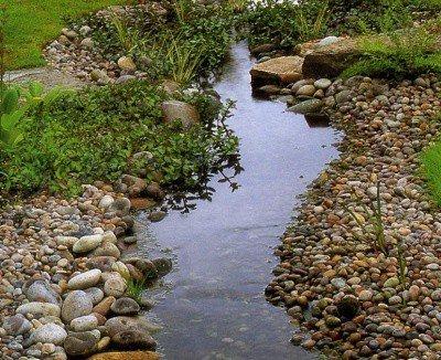 Пример равнинного ручья