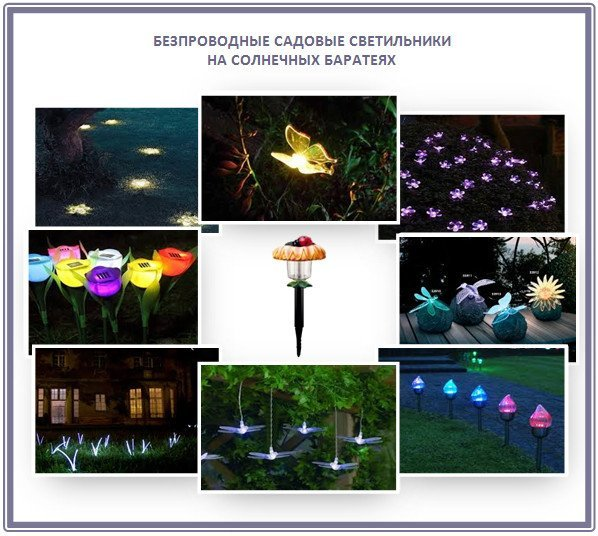 Автономные светильники для сада