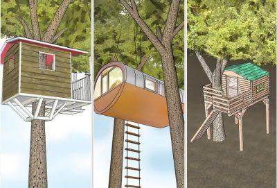 Конструктивные варианты домиков на дереве