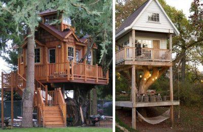 Варианты проектировки домиков на дереве