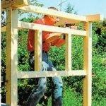 Процесс строительства домика